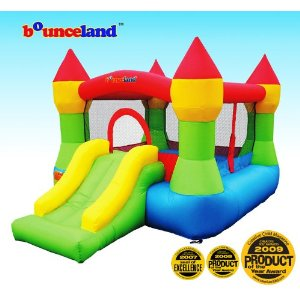 party inflatables with slides and bouncers